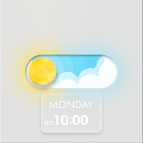 Анимация кнопки (день/ночь)