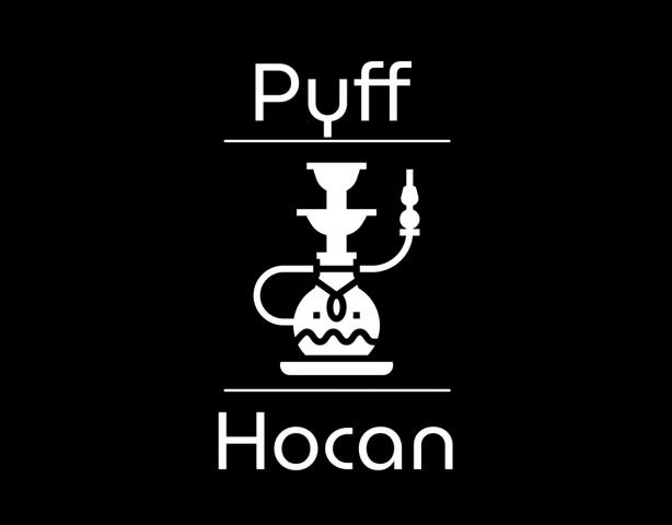 Логотип кальянной чёрнобелый вариант
