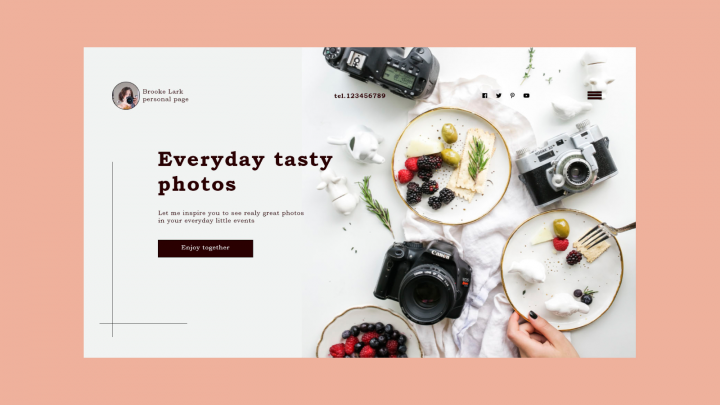 Целевая страница для фотографа