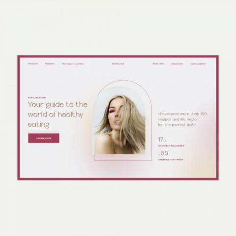 Сайт для эксперта по здоровому питанию