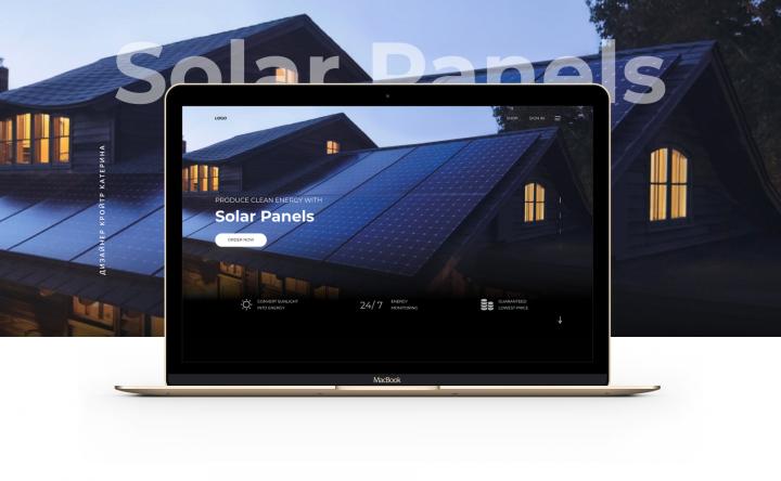 Сайт для реализации Solar Panels