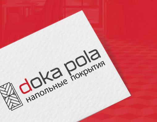 Название и логотип онлайн-магазина напольных покрытий DocaPola