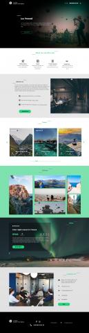 Lu Travel Landing Page Design