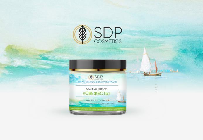 Этикетка - Соль для ванн - SDP Cosmetics