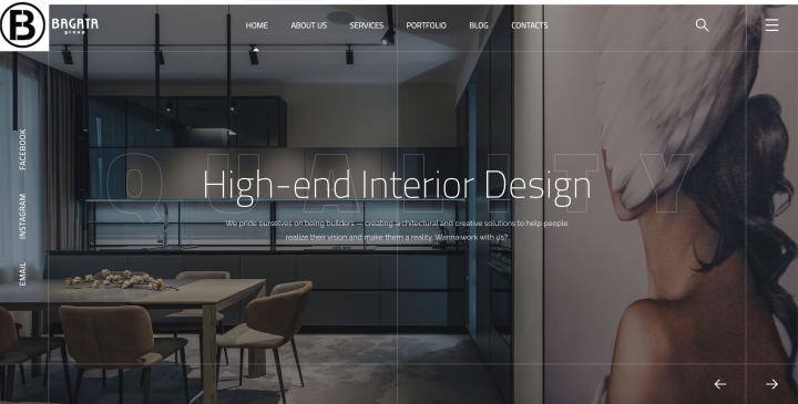 Сайт для компании по производству мебели