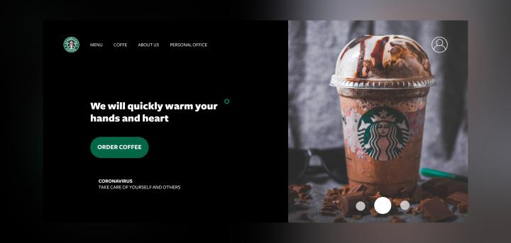 Landing Page Starbucks Company