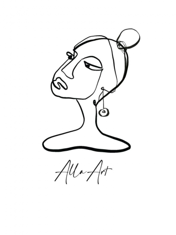Логотип для арт-бренда AllaArt