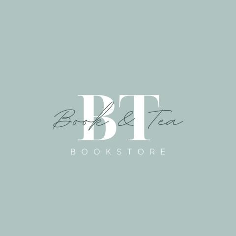 Логотип для книжного магазина Book&Tea