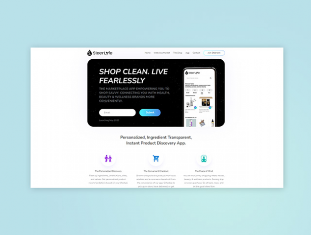 Промо страница приложения