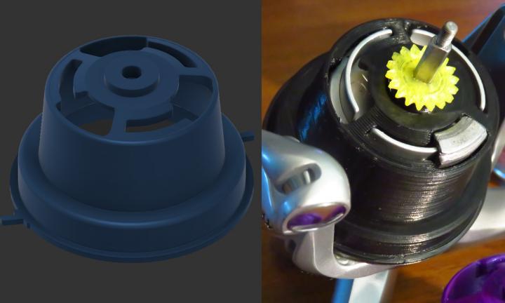 3D печать - деталь рыболовной катушки