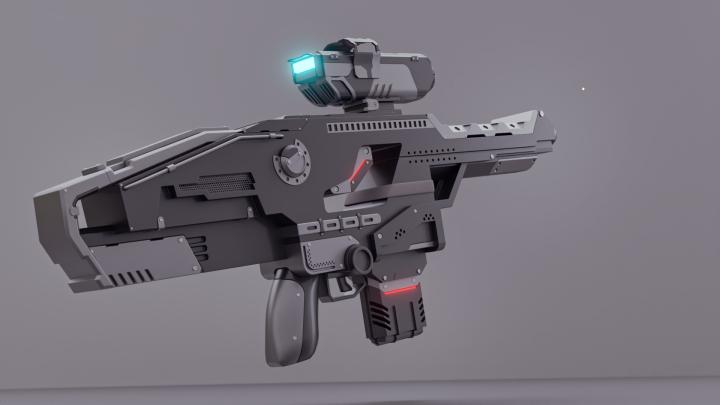 Моделирование sci-fi винтовки