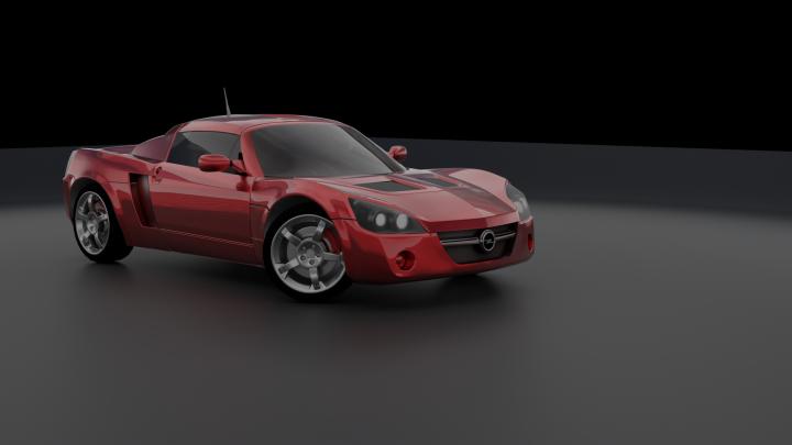 Моделирование Opel Speedster
