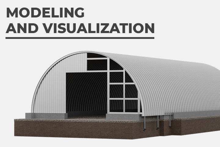 Моделирование и визуализация промышленных ангаров