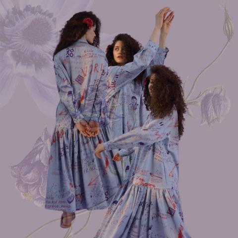 Креативный коллаж для ленты бренда женской одежды