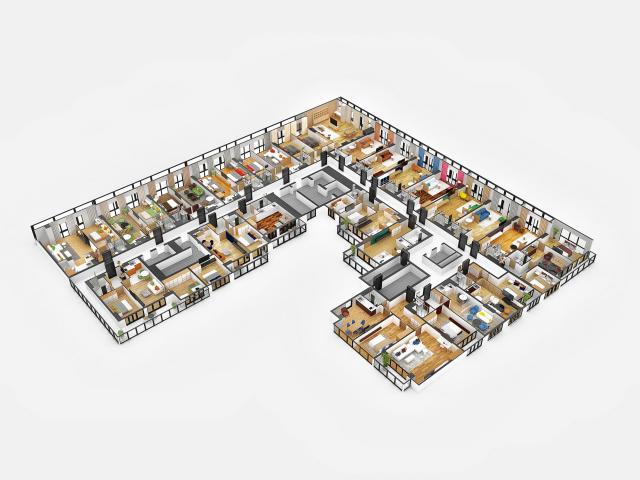 3д план этажа