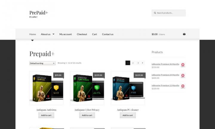Сайт магазина PrapaidPlus