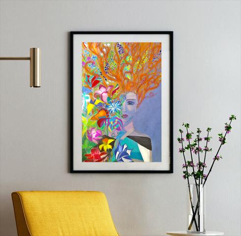 плакат для салона цветов (пастель)