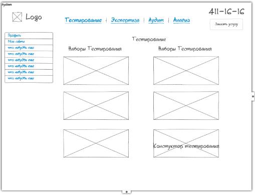 Разработка прототипа интерфейса, прототипа сайта