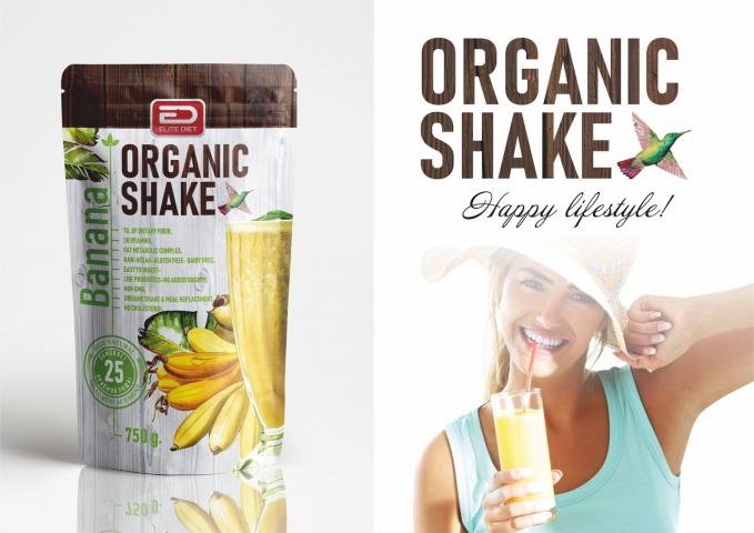 Упаковка для органических коктейлей.
