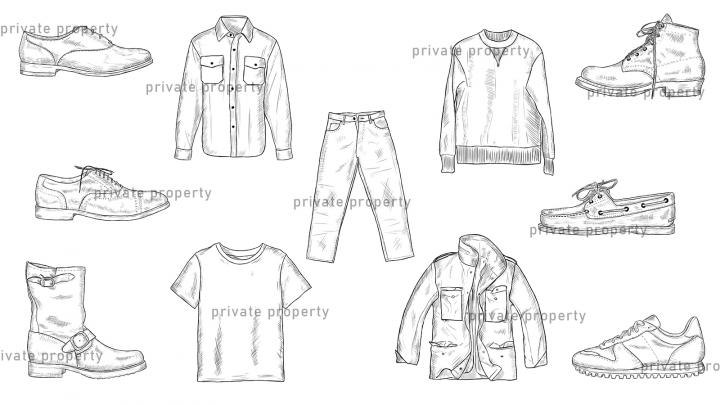 Набор иконок для сайта одежды и обуви the-bootleggers.ru