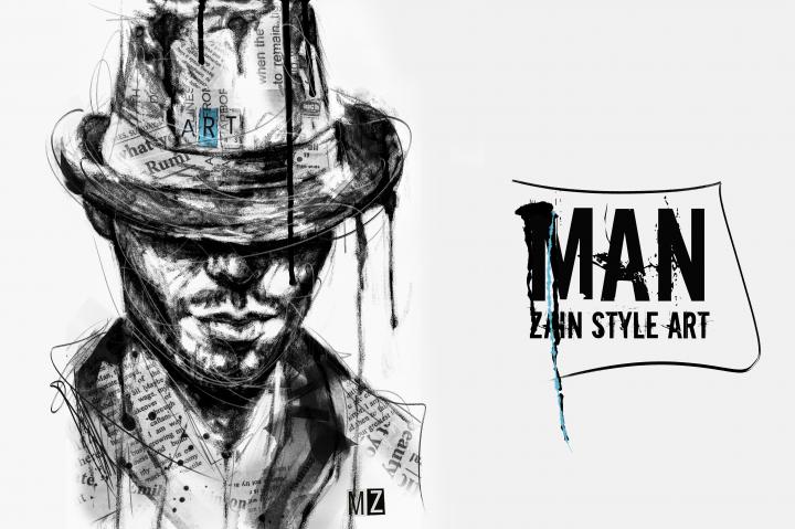 Man (Zain Style Art)