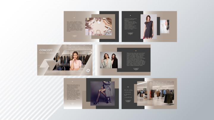 Презентация: Магазин одежды. 6 слайдов (PDF)