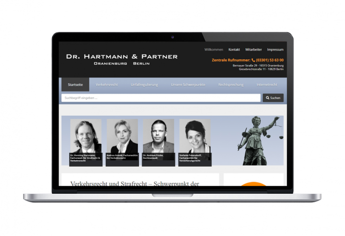 Сайт-визитка юридической фирмы
