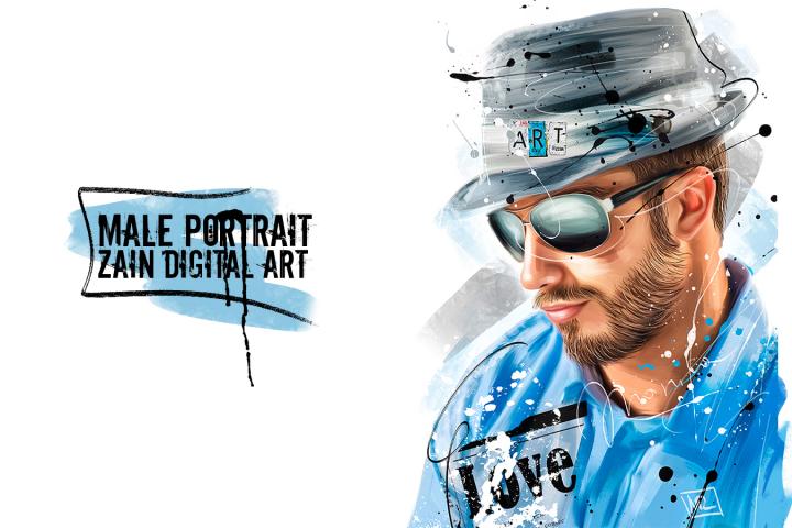 Male portrait (Zain Digital Art)