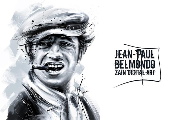 Jean-Paul Belmondo (Zain Digital Art)