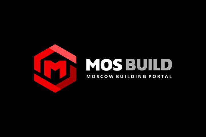 Логотип-концепт для строительного портала MOS.BUILD