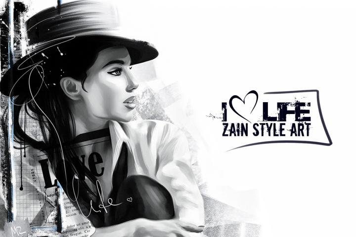 I love life (Zain Style Art)