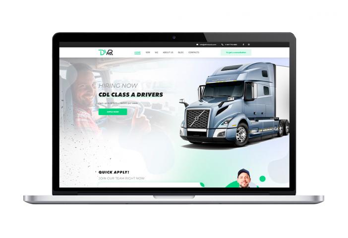 Сайт-визитка компании перевозок